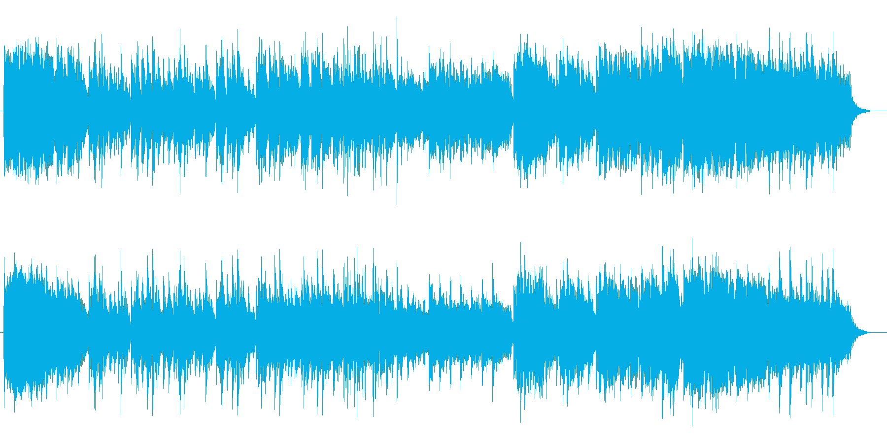 ギターとピアノが温かいインスト曲の再生済みの波形