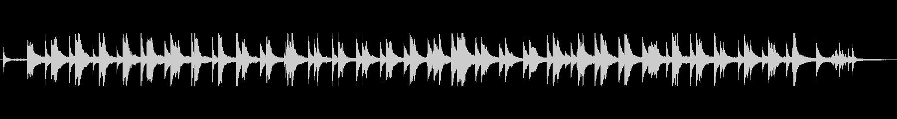 ミステリー、ホラーな雰囲気のピアノ&SEの未再生の波形