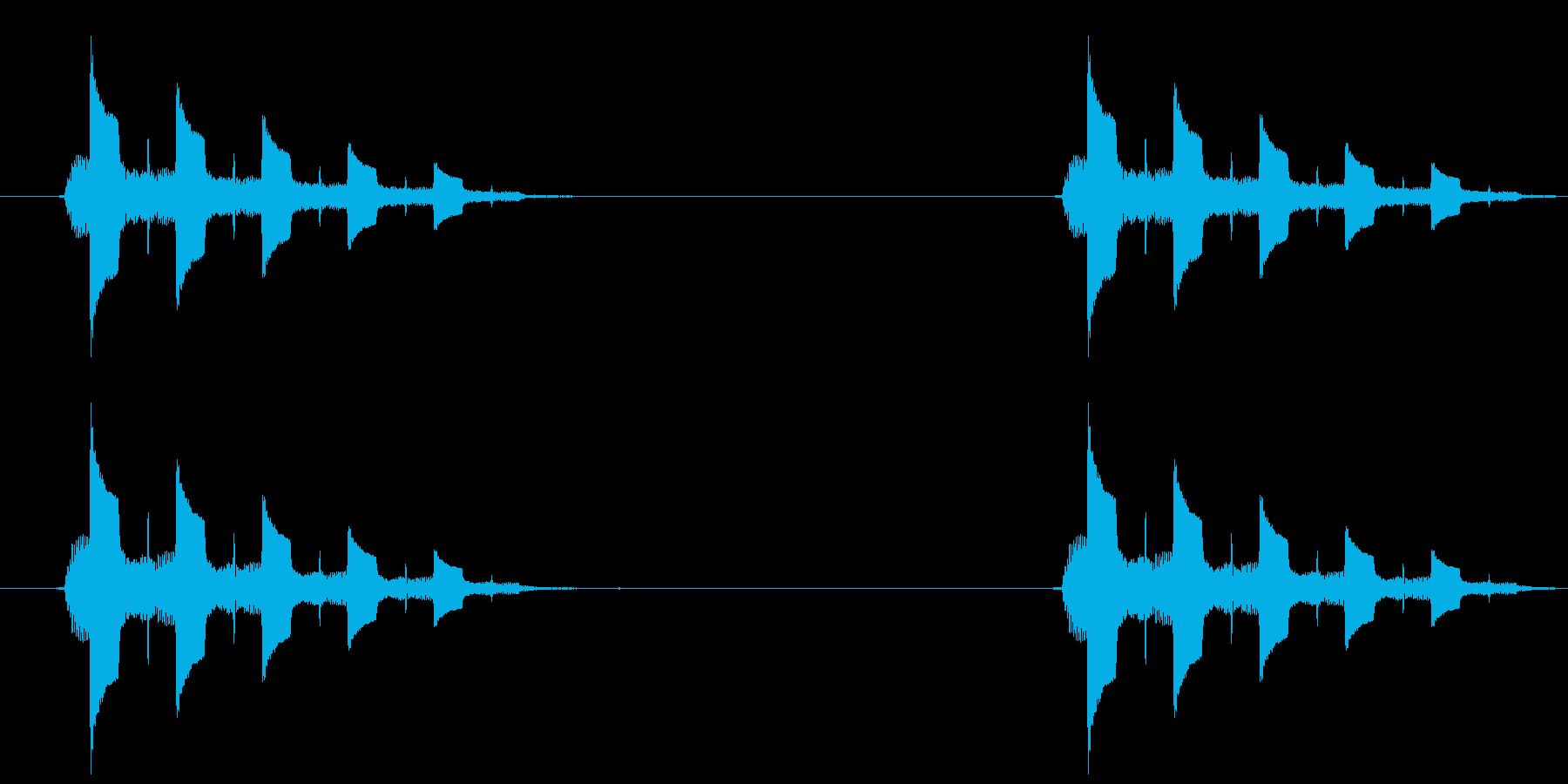 トゥルルルル、という電話の音ですの再生済みの波形