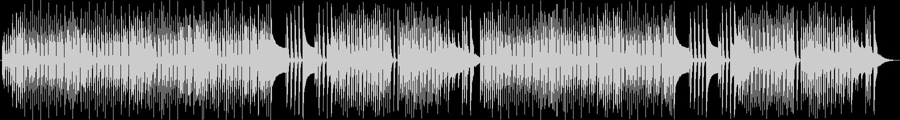 ポルカ風軽快な四つ打ち、木琴スタイルの未再生の波形