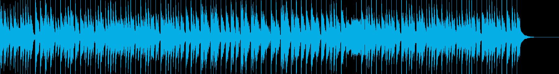 子供向けのわんぱくなBGMの再生済みの波形