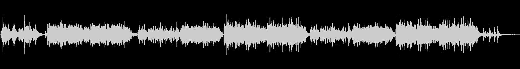 エモーショナルなピアノのBGMの未再生の波形