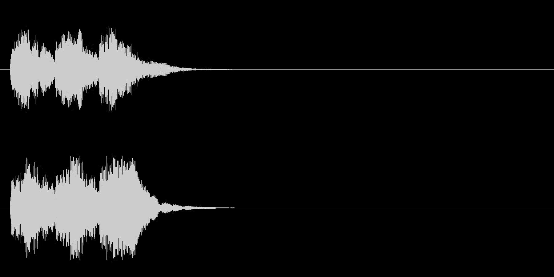 ジングル/アタック(ポップ)の未再生の波形