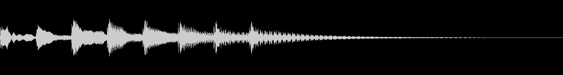ピロパロティロリロンというジングルの未再生の波形