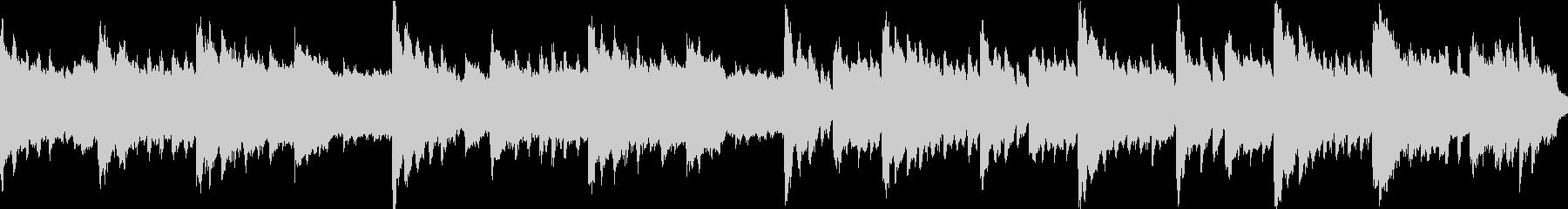 ピアノソロ、物悲しいトレモロ、ループ仕様の未再生の波形