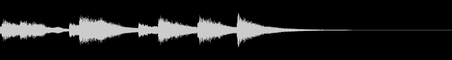 あっさりとしたピアノジングルの未再生の波形