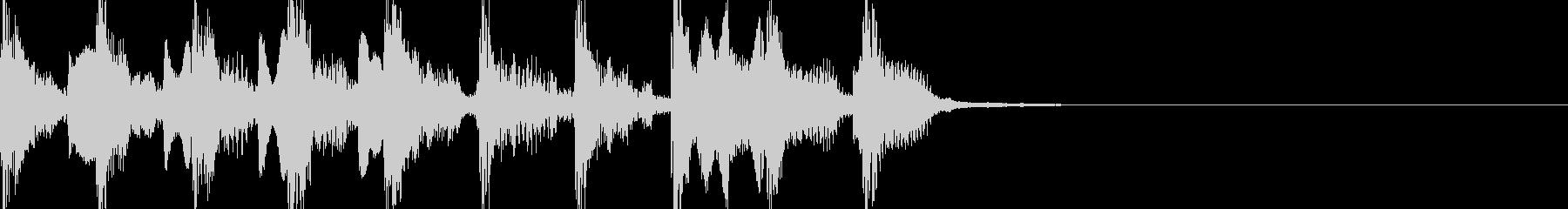 【ジングル】明るくコミカルなジングルの未再生の波形
