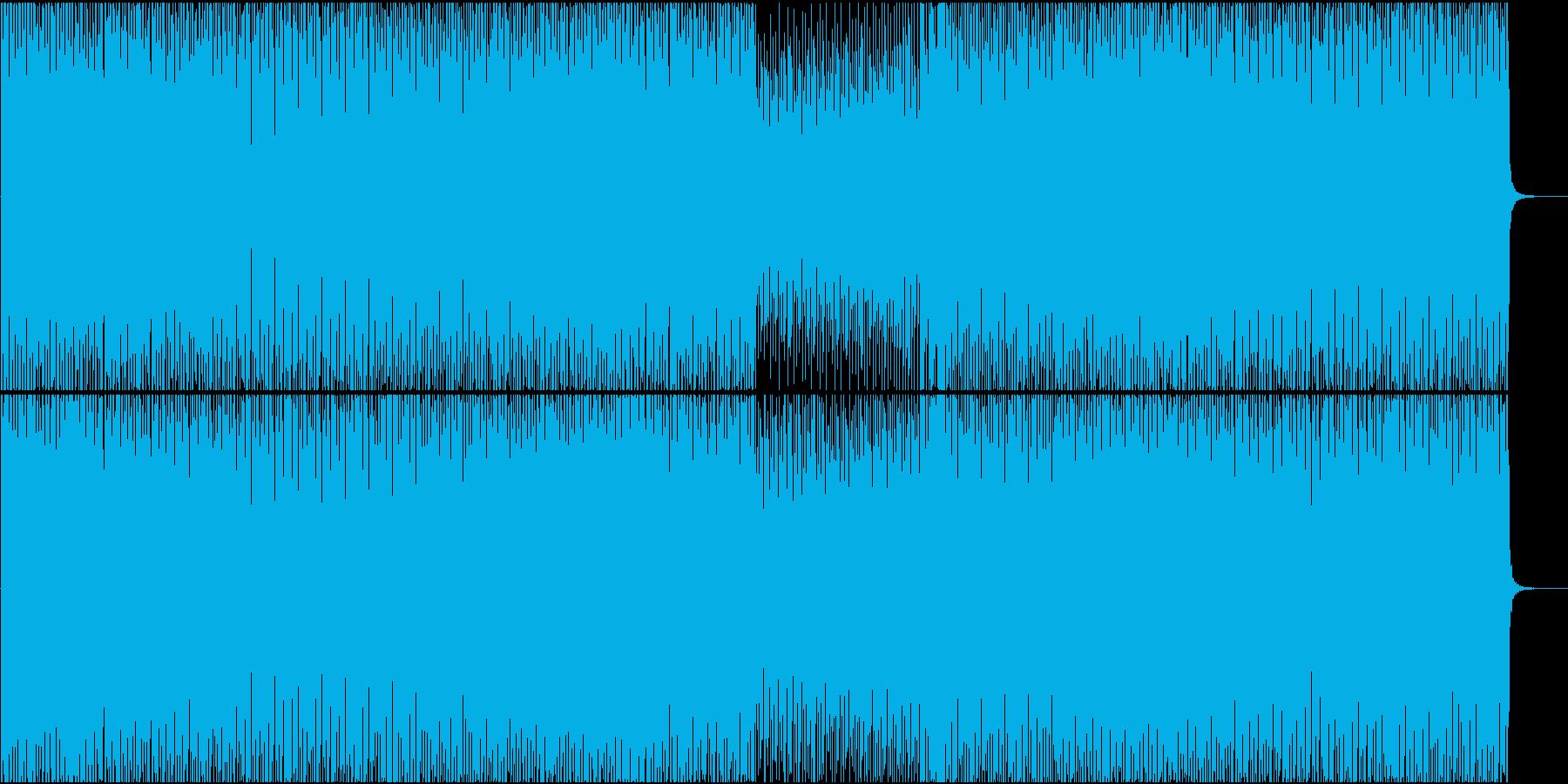 EDM系BGM(途中ボーカルなし)の再生済みの波形