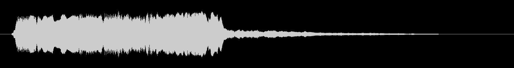 エスニック楽器の笛でワンフレーズジングルの未再生の波形