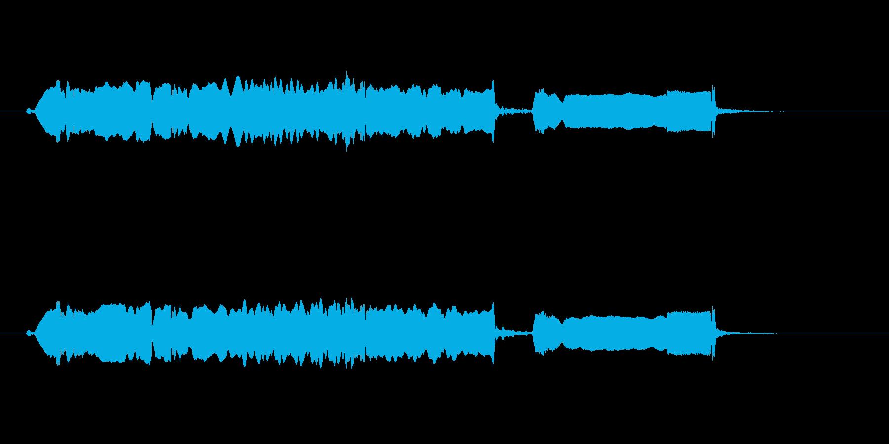 和風 篠笛生演奏のジングル02の再生済みの波形