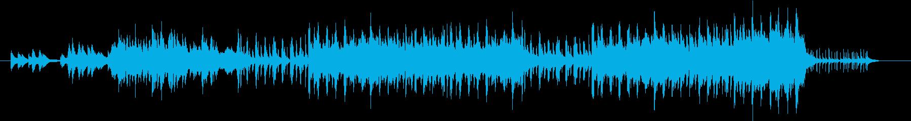 明るく変化のあるポップスサウンドの再生済みの波形