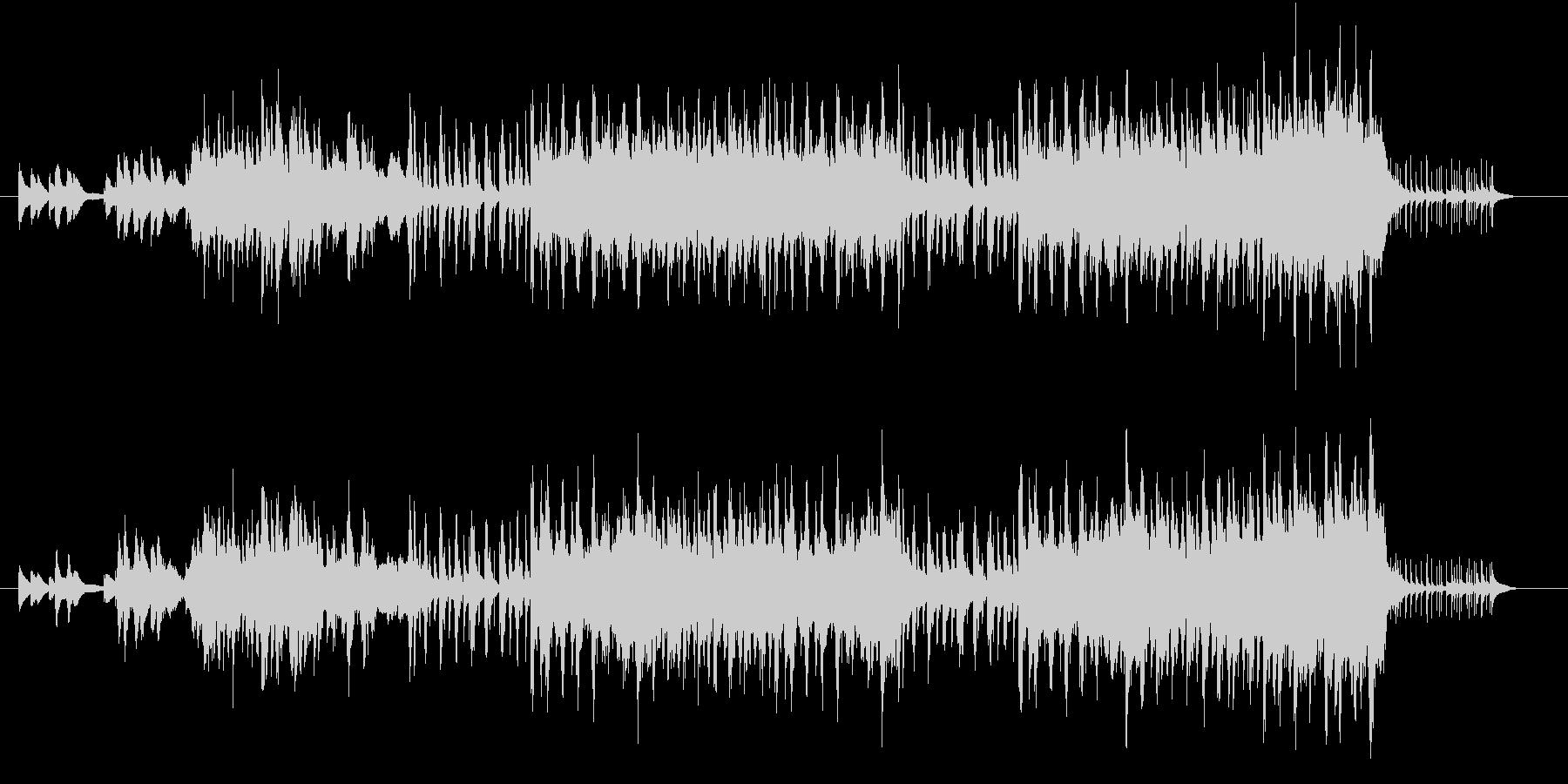 明るく変化のあるポップスサウンドの未再生の波形