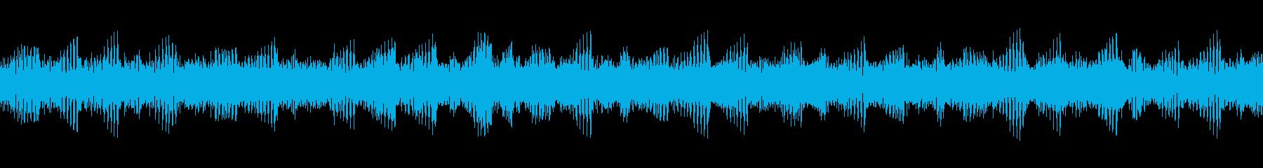 ヘビーギター4、BPM140、A、リフの再生済みの波形