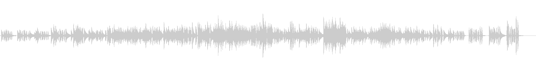 生ピアノソロ・幾何学的なワルツの未再生の波形