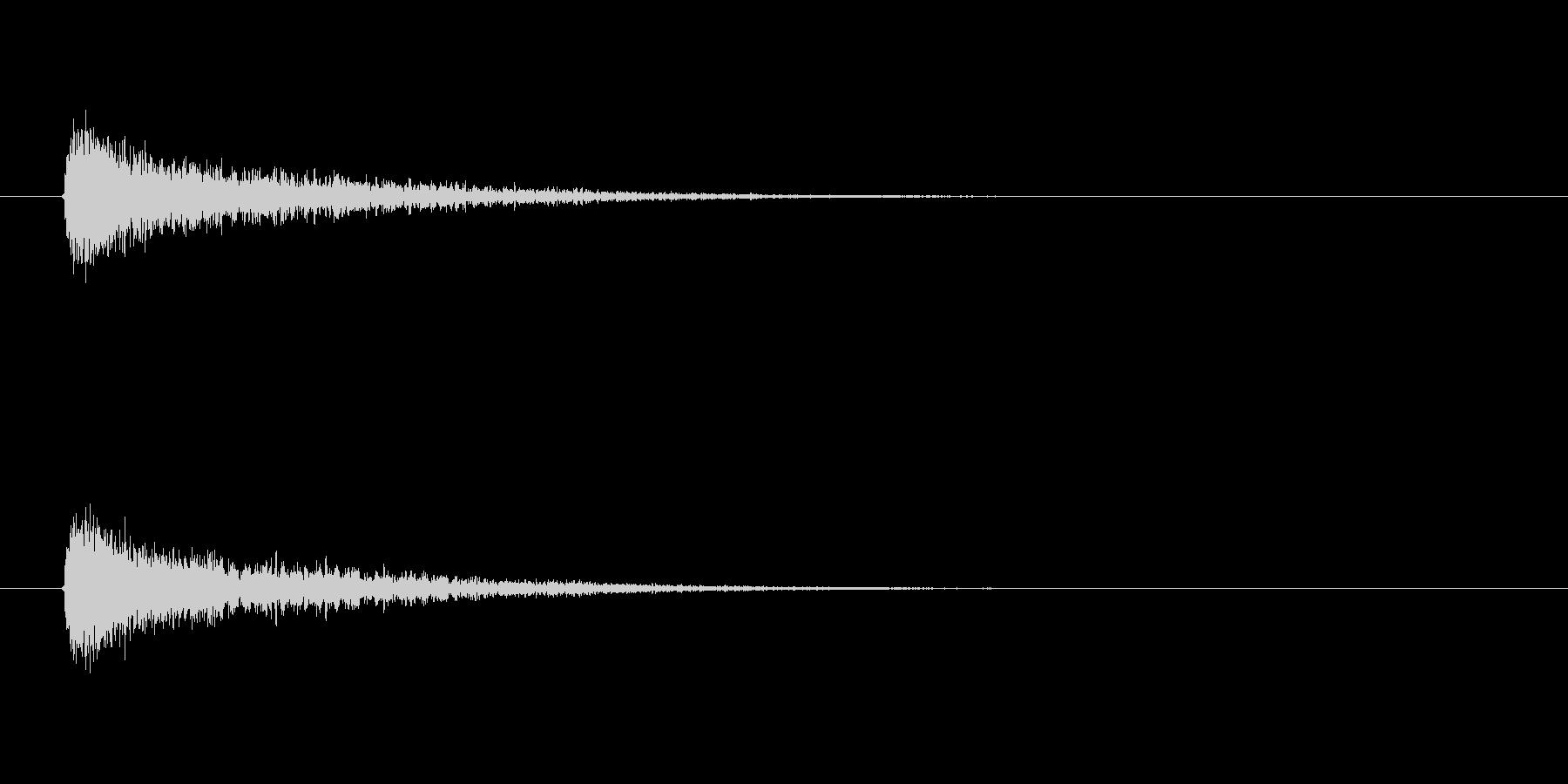 【衝撃08-1】の未再生の波形