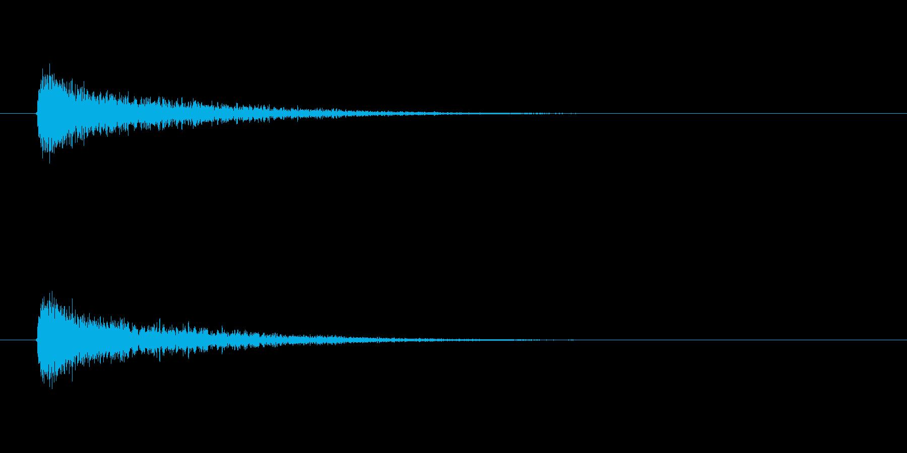 【衝撃08-1】の再生済みの波形