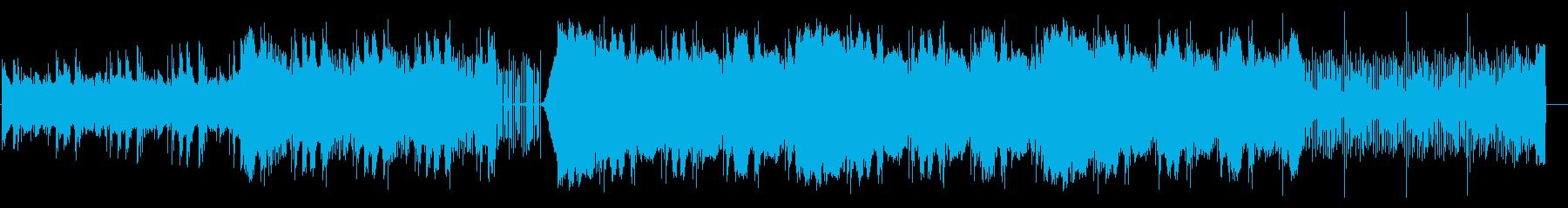 エレクトリック、電気的なBGMの再生済みの波形