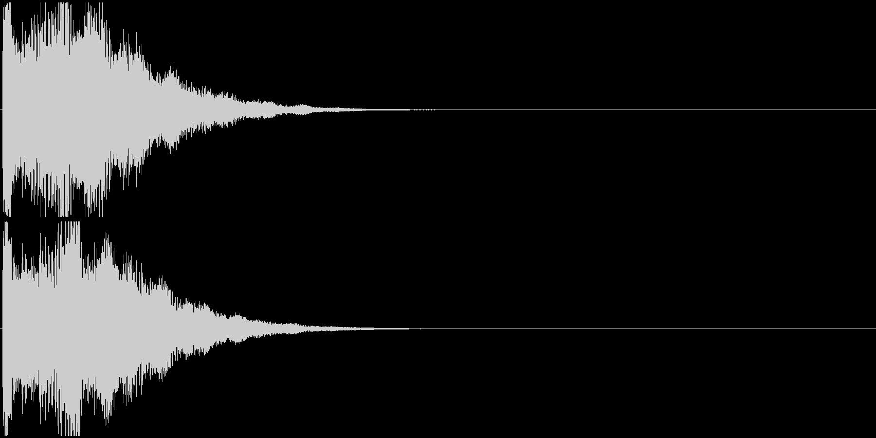 「お知らせ音」インフォメーション/告知の未再生の波形