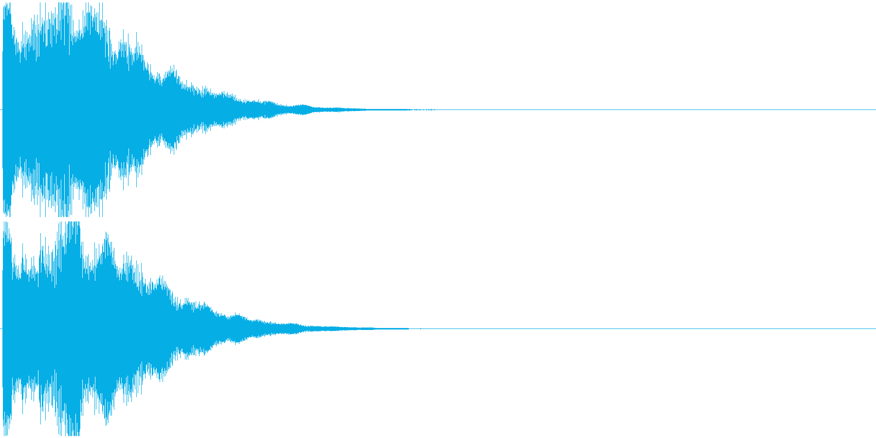 「お知らせ音」インフォメーション/告知の再生済みの波形