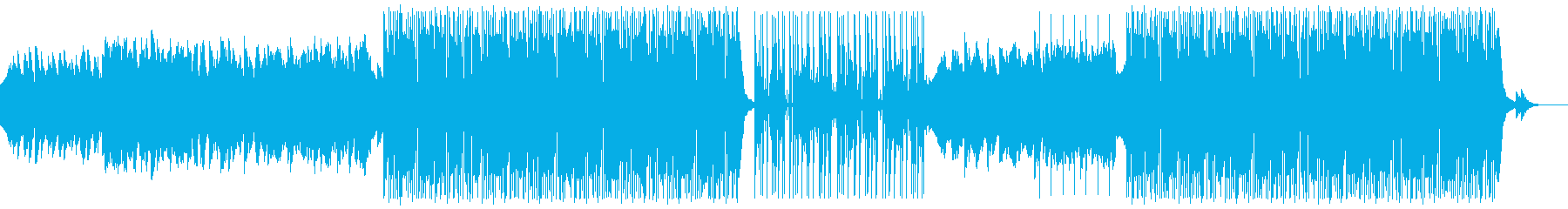 テンポの良いアメリカンHiphopの再生済みの波形