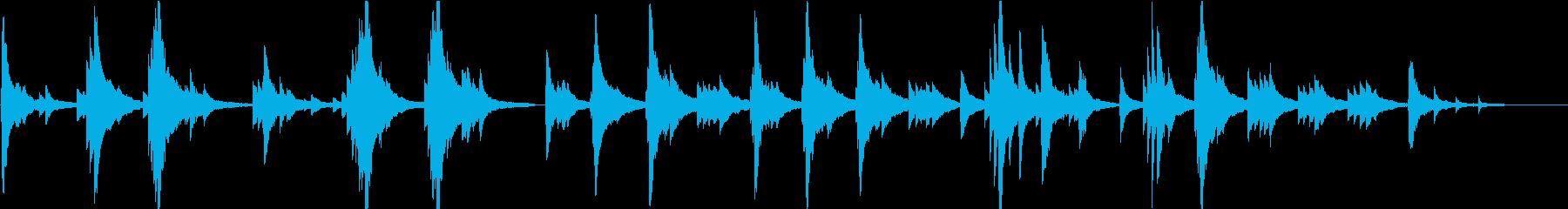 静かで切ないピアノソロの再生済みの波形
