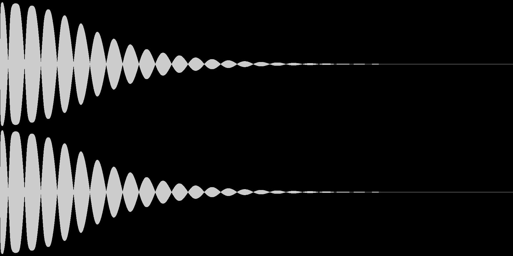 トゥィ~ン~の未再生の波形