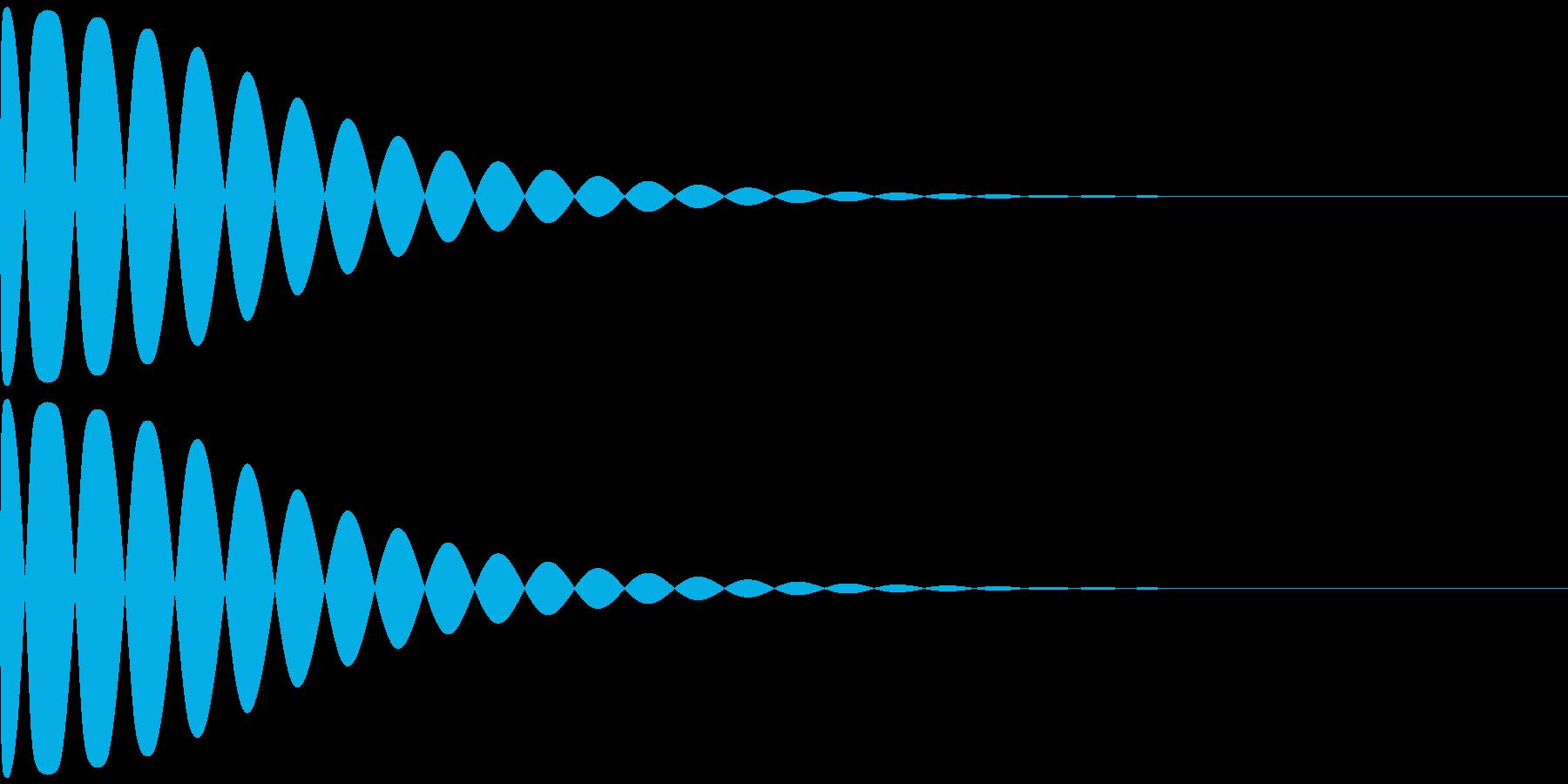 トゥィ~ン~の再生済みの波形