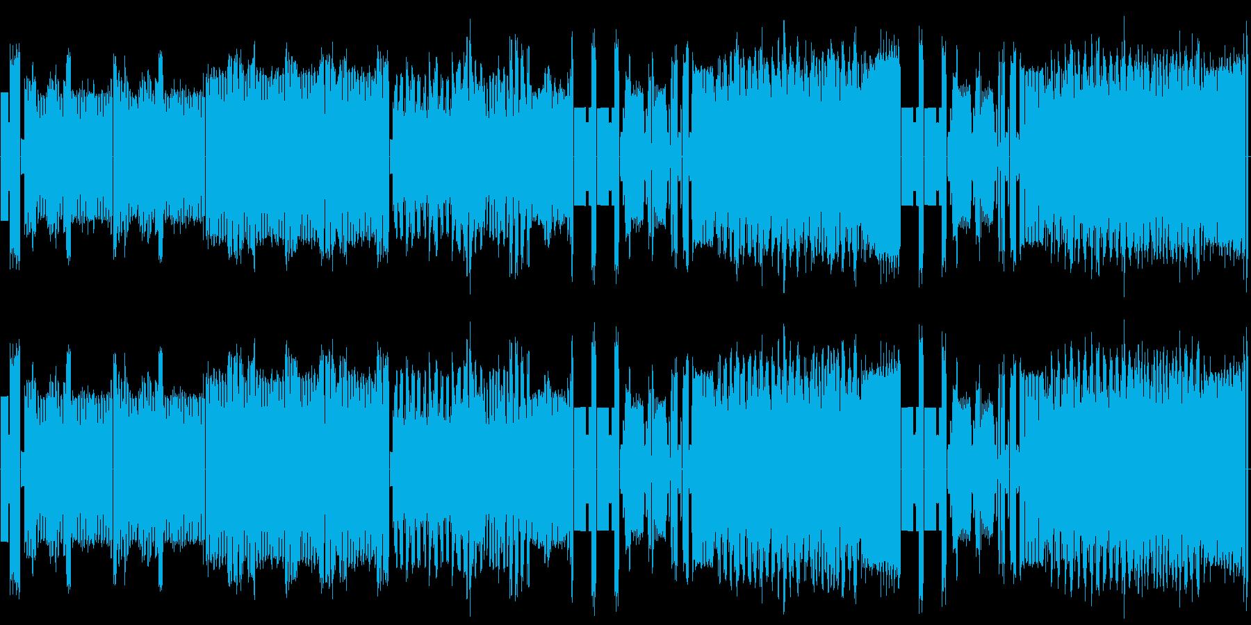 星条旗よ永遠なれ の8bitサウンドの再生済みの波形