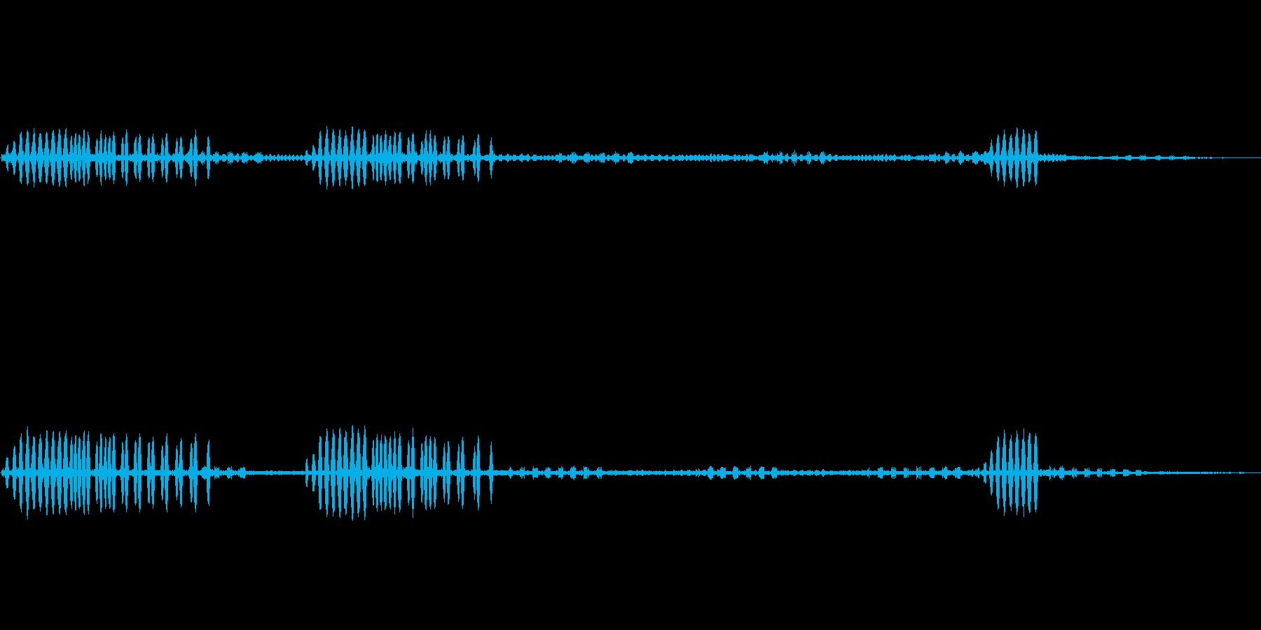 鈴虫,コオロギが鳴く秋の夜の効果音!02の再生済みの波形