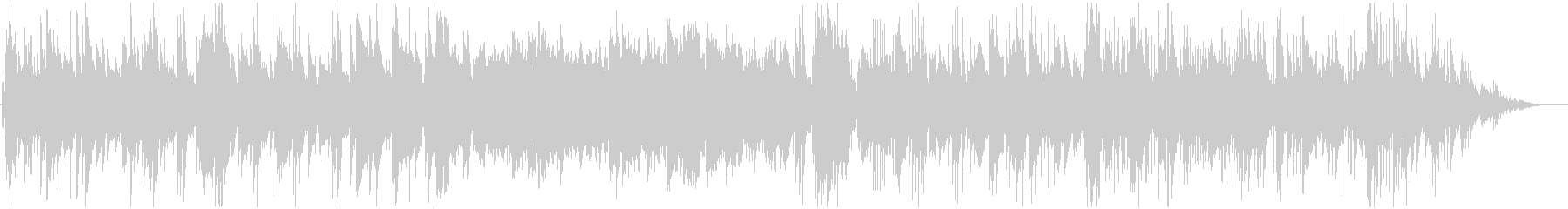 ノスタルジックなジャズBGMの未再生の波形
