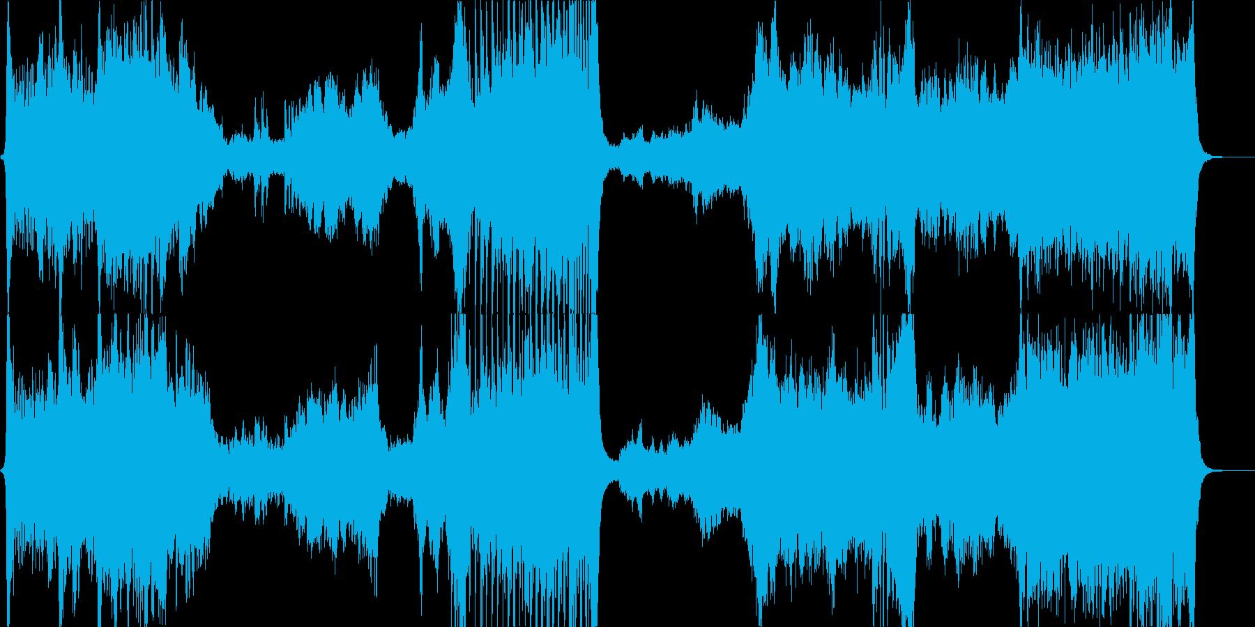 ハリウッド系ファンファーレのオケ 勝利の再生済みの波形