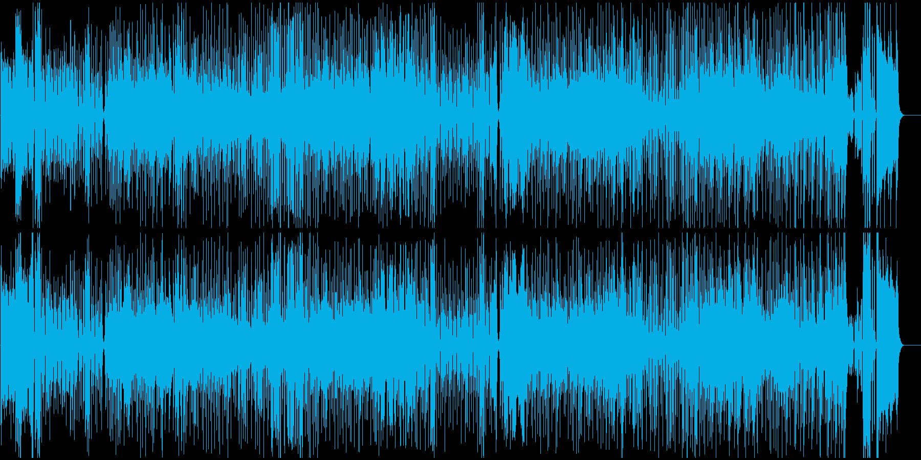 アップテンボなハウスミュージックの再生済みの波形