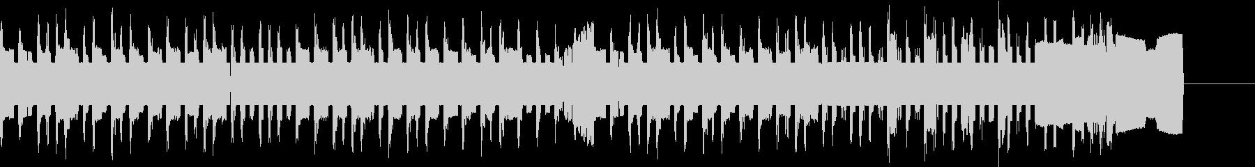 ファミコン風タイトル画面のゲームBGMの未再生の波形