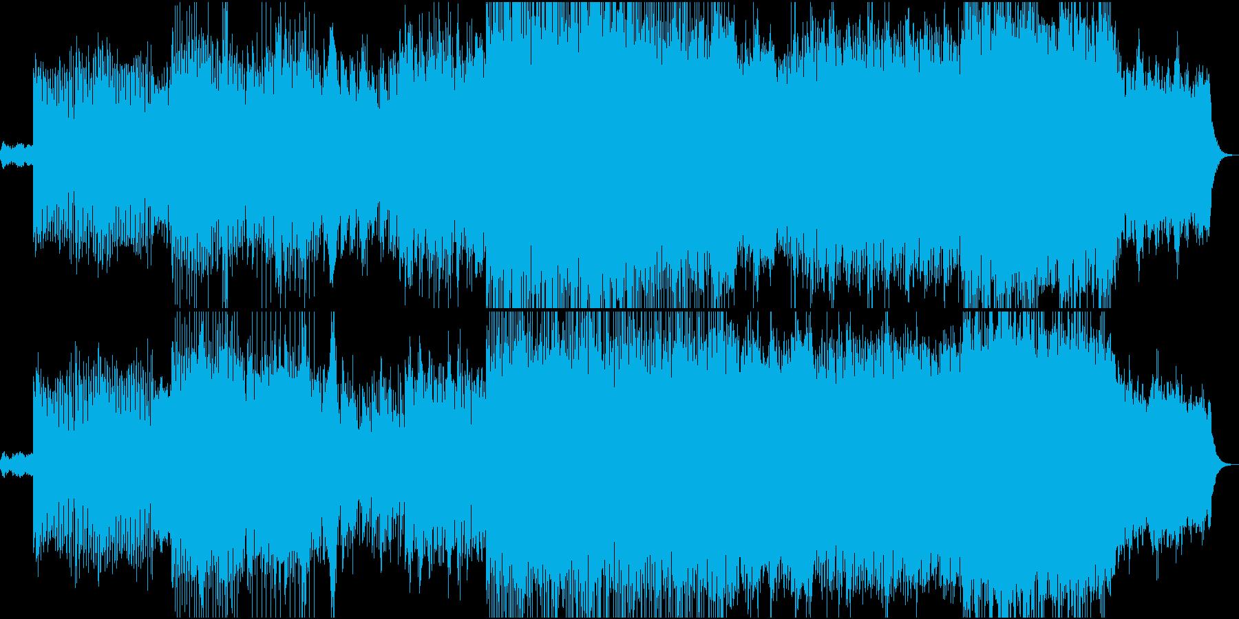 リフレインが印象的に響くテクノPOPの再生済みの波形