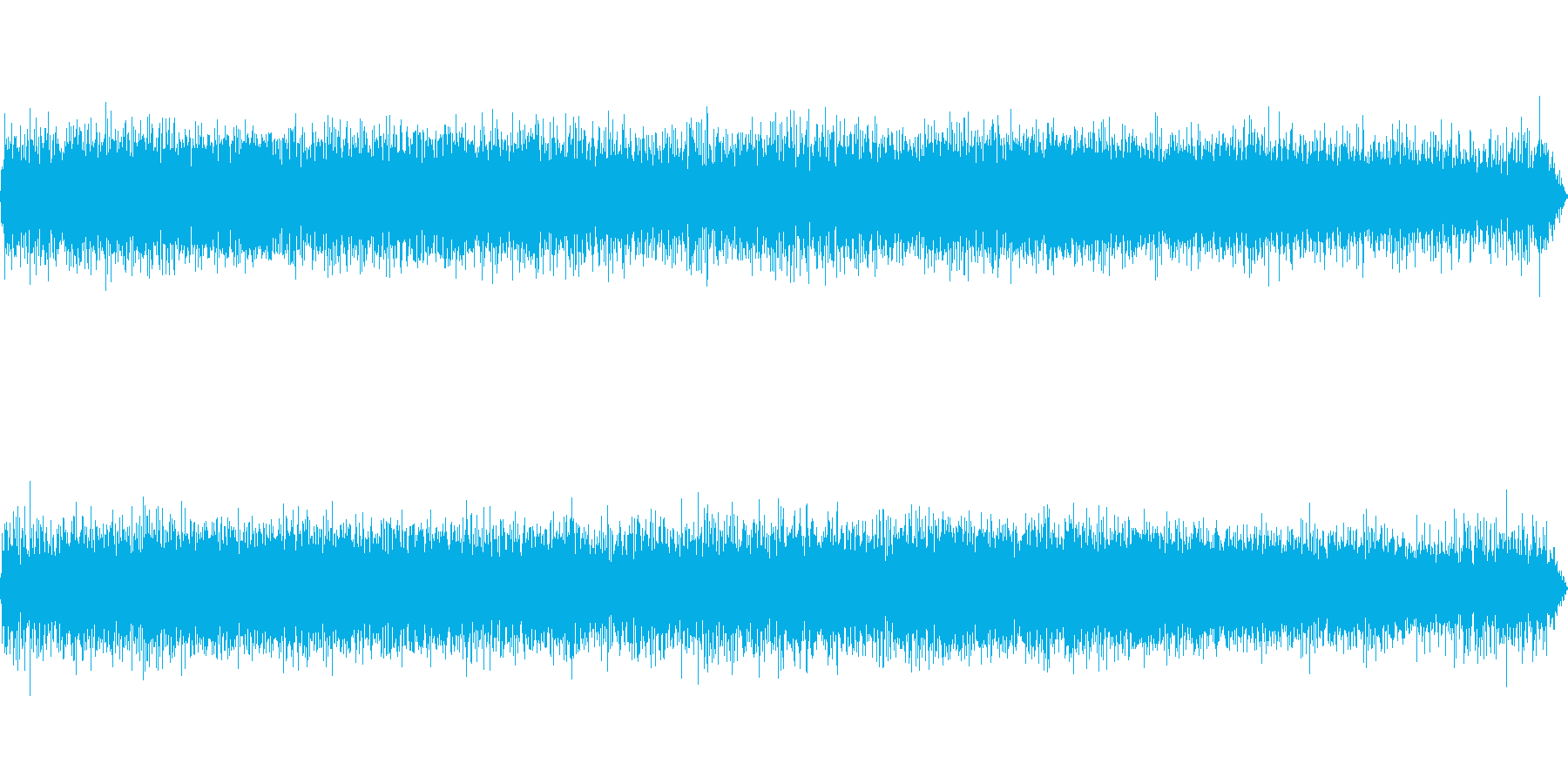 ビニール傘に当たる雨音-2の再生済みの波形