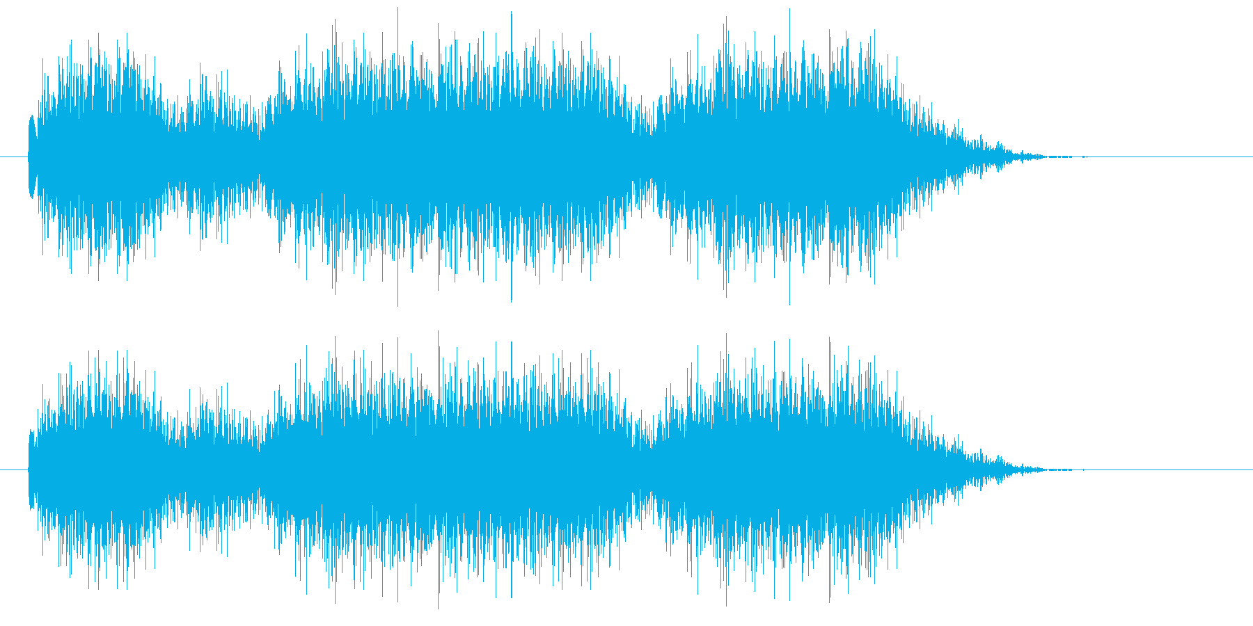 機関銃の再生済みの波形