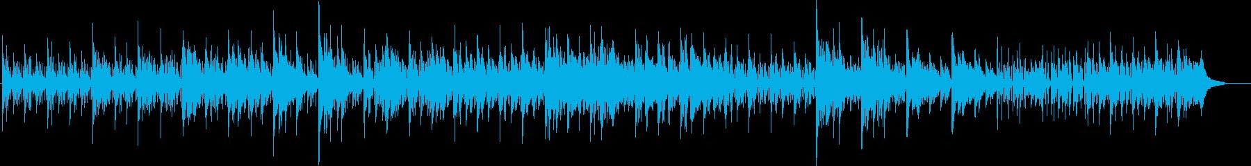 ピアノのやわらかく落ち着いた曲調の再生済みの波形