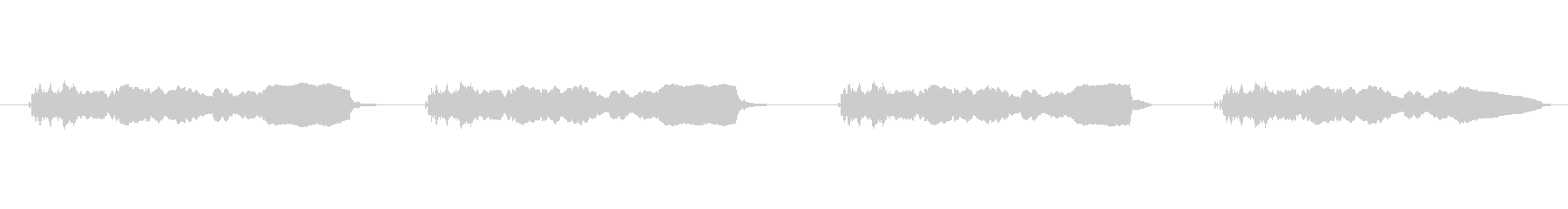 海底潜水サイレンサイレンの未再生の波形