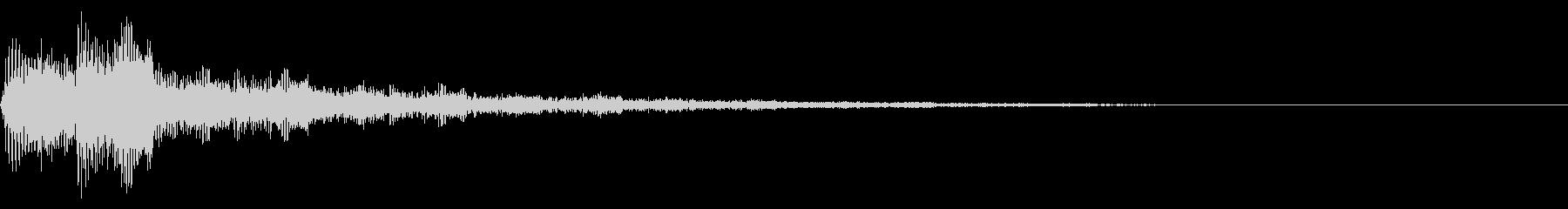システム音/メニュー/決定/ポジティブの未再生の波形