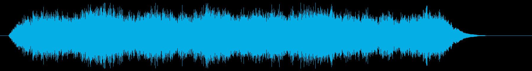 タイトル、ロゴ、テロップ等、映像BGMにの再生済みの波形