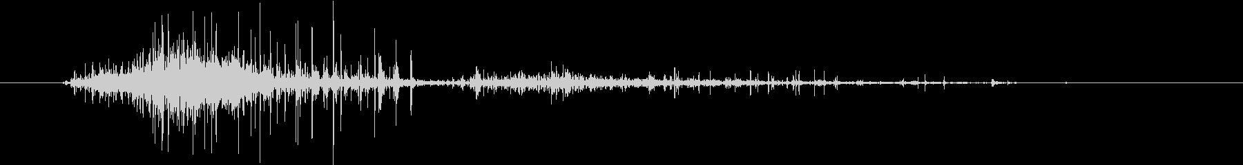 【生録音】スポンジを握る 泡の音 2の未再生の波形