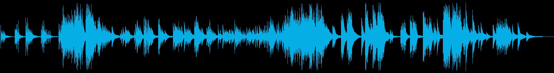 綺麗で力強い響きあるピアノメロディーの再生済みの波形
