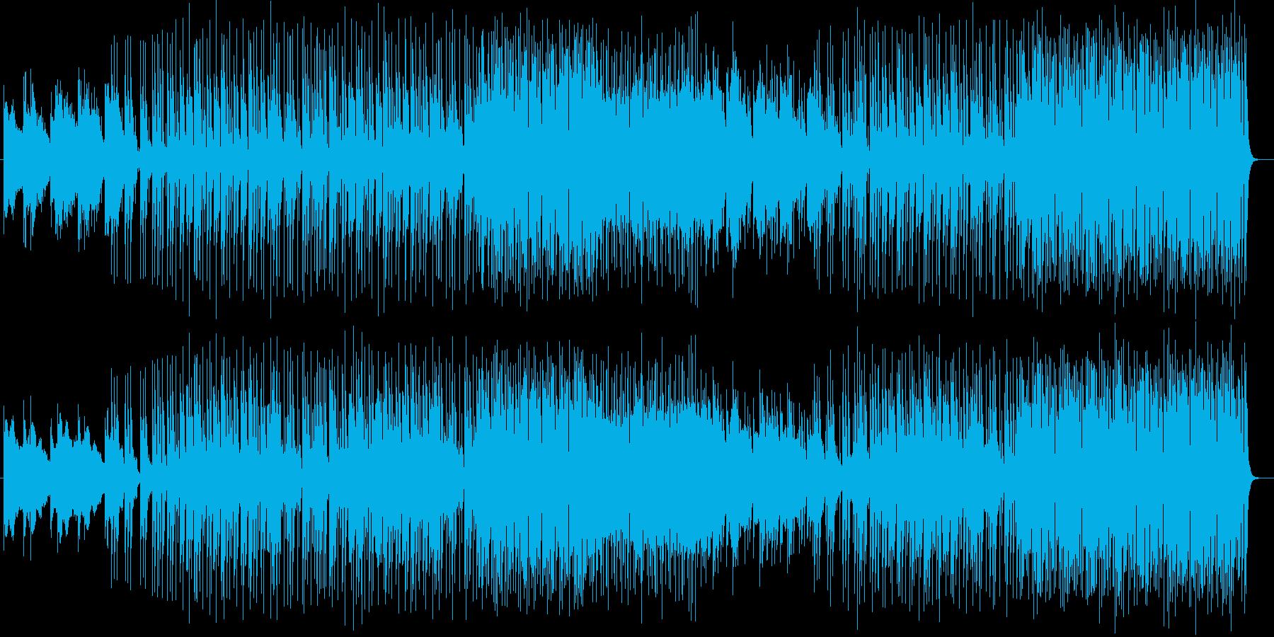 明るく爽やかシンセサイザーギターサウンドの再生済みの波形