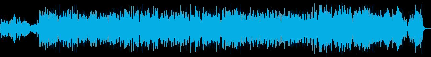 心弾む明るいストリングスメインの曲の再生済みの波形