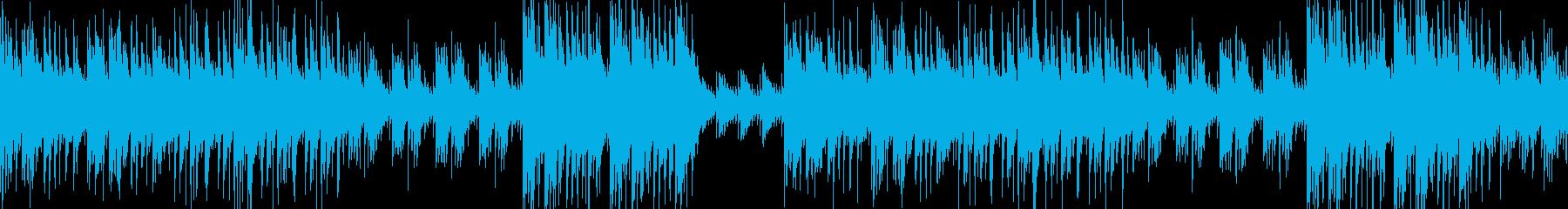 琴、ピアノで優しく上品な和風ループ の再生済みの波形