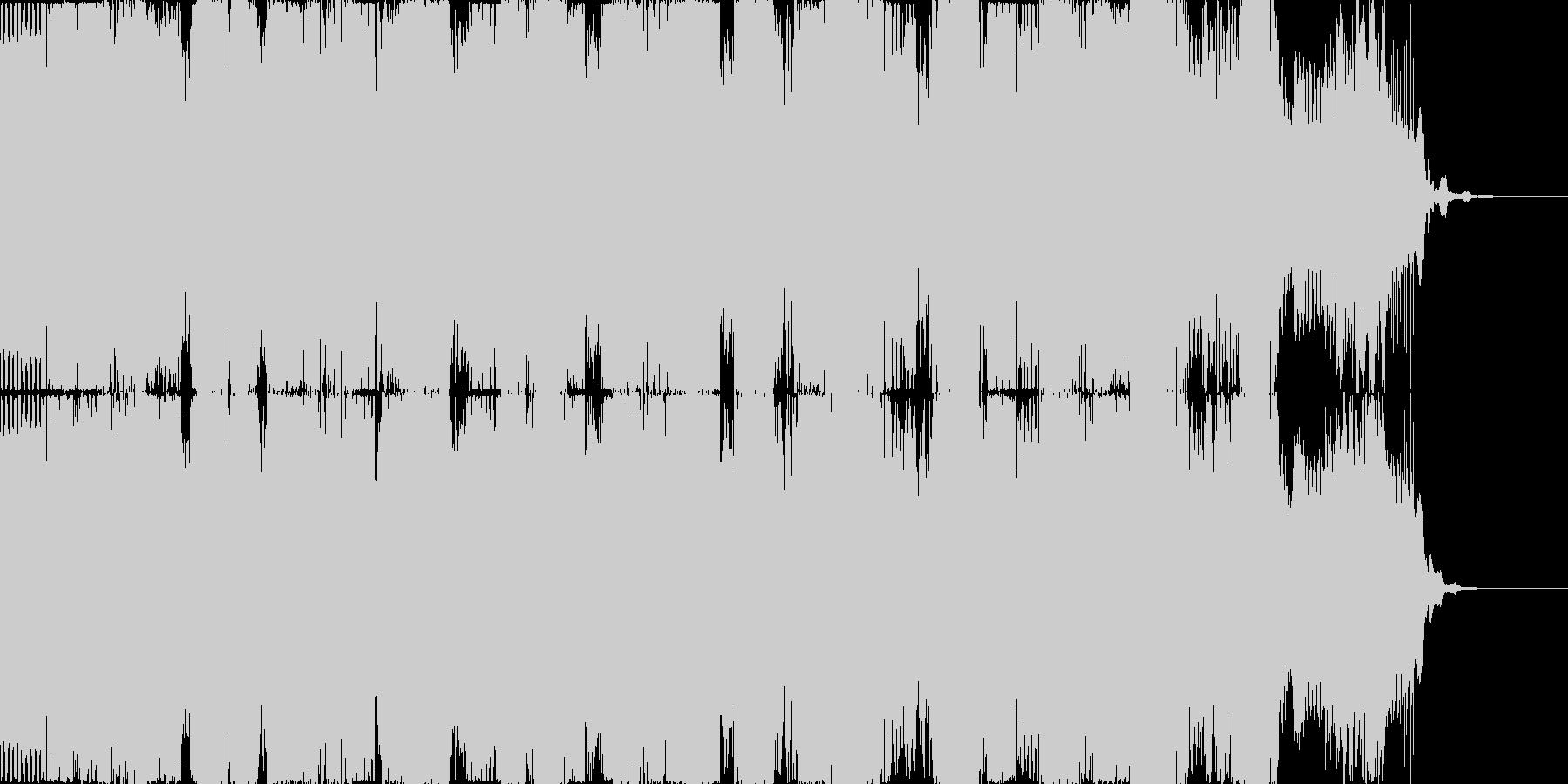 様々な着信音が次々になり続ける効果音1の未再生の波形