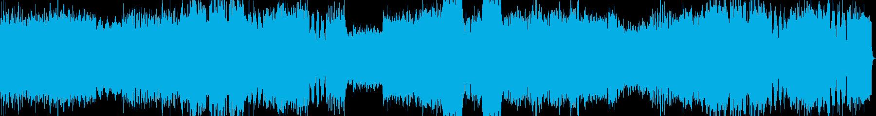 激しい戦闘BGMの再生済みの波形