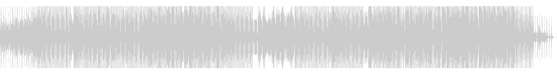 シンセと電子音が特徴的なテックハウスの未再生の波形