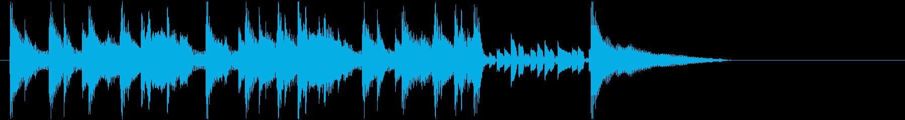 おしゃれなジャズ風の明るいジングルの再生済みの波形