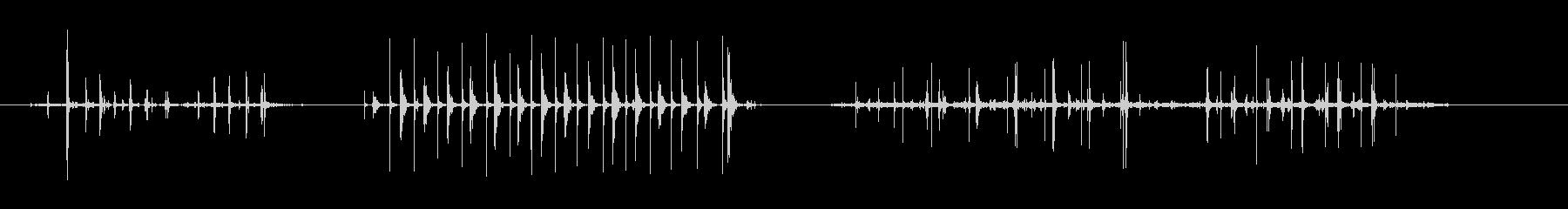 石けり遊び、縄跳び-3バージョンの未再生の波形